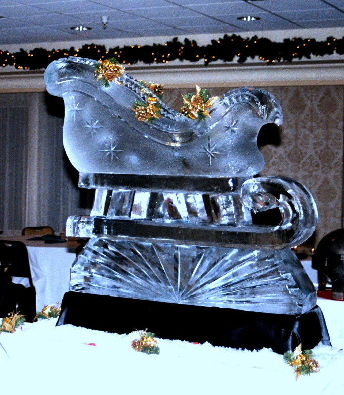 By Ice Impressions, Ice Impressions Custom Ice Sculptures, Ice Sculptures, ice-impressions.com, Ice Impressions Ice Sculptures, Special Event Ice Sculptures, special event ice carvings, ice-impressions.com, ice sculptures, ice sculpture, ice carving, ice carvings, Special Event Ice Sculptures, Special Event Ice Carving, Santa's Sleigh Ice Sculpture, Ice Impressions, Ice Impressions Ice Sculptures.