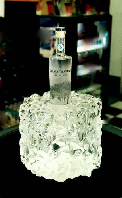 Bottle Chiller Ice Sculpture, Ice Impressions.