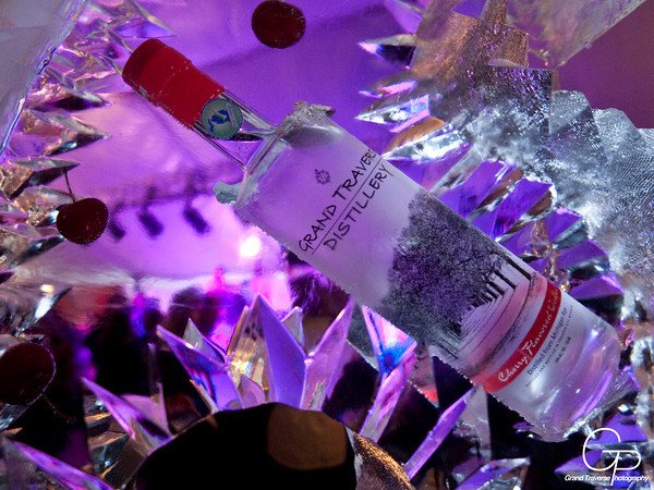 Ice Impressions Cherry Luge Ice Sculpture, Winter Wine &amp; Wow Event Ice Sculptures, Grand Traverse Distillery Ice Sculptures, Ice Impressions, Brand Promotion Ice Sculptures, Items frozen in ice, cherries frozen in ice, ice bar, ice bars, ice bar northern michigan, special event ice sculptures, custom ice sculptures, Traverse City Ice Sculptures, Winter Festival Ice Sculptures, Michigan Ice Sculptures, Northern Michigan Ice Sculptures.