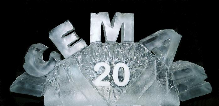 ICEMAN Mountain Bike Race Ice Sculpture, Ice Impressions.