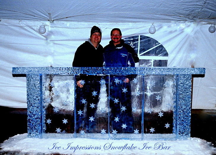 By Ice Impressions, ice-impressions.com, Ice Impressions Custom Special Event Ice Sculptures, Ice Impressions Custom Ice Sculptures, Ice Bar, Ice Bars, Snowflake Ice Bar, Michigan Ice Bar, Ice Impressions Ice Bar, Ice Impressions, New Years Eve Ice Bar, Ice Sculpture, Ice Sculptures, Ice Carvings, Ice Carving