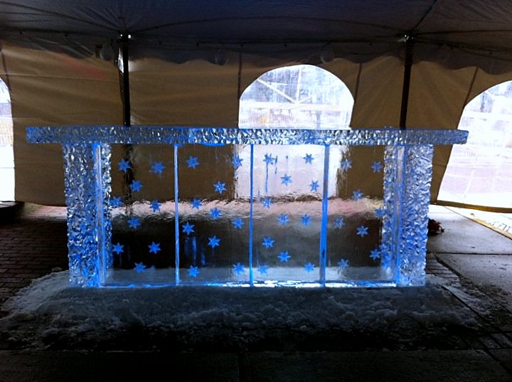 Snowflake Ice Bar, New Years Eve Ice Bar, Ice Impressions.
